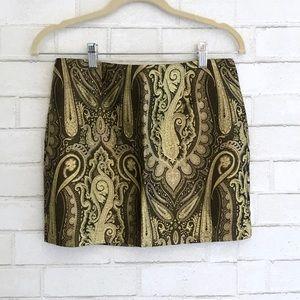 Alice + Olivia Gold Mini Skirt - size 2